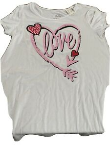 Girls Justice short sleeve graphic top, size 14/16