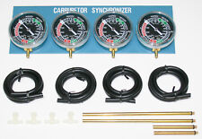 Complete Carburetor Synchronizer Vacuum Gauge ~ 2,3,4 Cylinders Carb Sync NEW