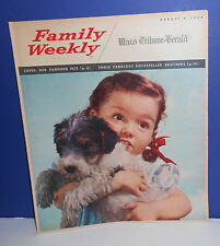 1958 FAMILY WEEKLY NEWSPAPER INSERT MAGAZINE - WACO TRIBUNE - PAMPERED PETS