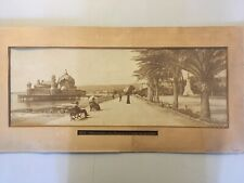 Nice La Promenade des Anglais Grande Photo Ancienne XIXe Albumine Animé Palais