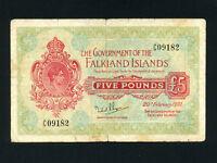 Falkland Islands:P-6,5 Pounds,1951 * King George VI * F * RARE *