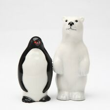 POLAR BEAR OPPOSITES PENGUIN SALT & PEPPER SHAKERS.NEW