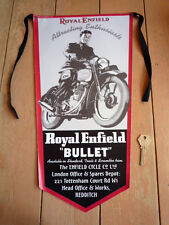 Royal Enfield Bullet old ad Pennant Classic Motorcycle