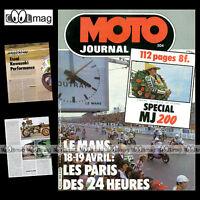 MOTO JOURNAL 504 YAMAHA XJ 750 SECA KTM 240 MC DOSSIER SPECIAL 24 H DU MANS 1981