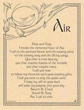 AIR INVOCATION Parchment Page for Book of Shadows, Altars!
