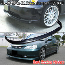 RS Style Front Bumper Lip (PP) Fits 01-03 Honda Civic 2/4dr