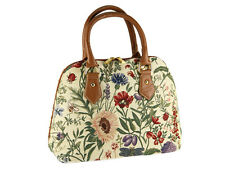 Signare Ladies Tapestry Fashion Handbag / Shoulder Bag In Morning Garden Design
