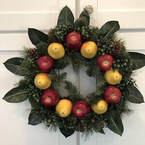 "Williamsburg Apple & Pear Wreath 20"" X 5.5"""