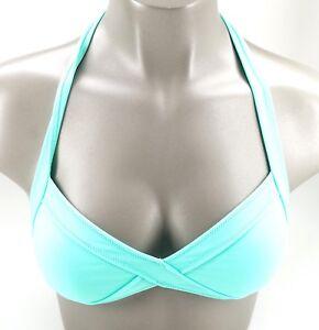 New Victoria's Secret PINK Seafoam Green Triangle Halter Bikini Top M/L