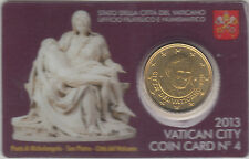 Vaticano 2013 Portamonete Ufficiale Coin Card nº 4 Monete 0.50 ? euro