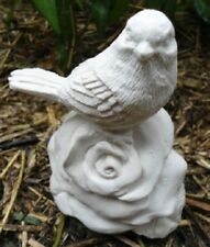 """Latex only bird on rose looking left latex mold mould 3""""H x 3""""L"""