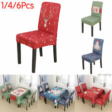 Dining Chair Slipcover Seat Covers Spandex Furniture Protector Christmas Decor