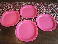 Tupperware LOT 4 NEW Legacy  Dessert snack plate  Microwave REHEATABLE 7 3/4 ""