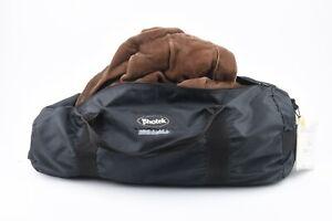 EXC++ PHOTEK 6' x 7' REMBRANDT BROWN VELOUR BACKGROUND CLOTH IN A BAG, NICE