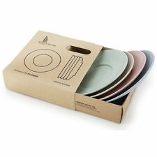 4pcs Wheat Straw Eco Biodegradable Unbreakable Dinner Plates Dinnerware Dishes