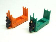 356-35E Lionel Baggage Cart Set, Orange & Green, Repro