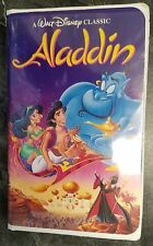 RARE! Aladdin Walt Disney Black Diamond VHS Video #1662 Vintage