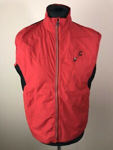 Cannondale WINDSTOPPER Sleeveless Jersey Men's Size M Full-Zip Red Vest