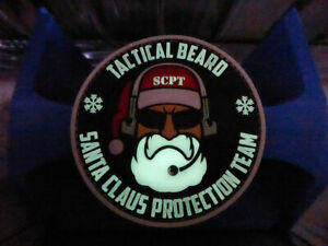 JTG TACTICAL BEARD SANTA CLAUS PROTECTION TEAM Patch, gid, limited 2018 Edition