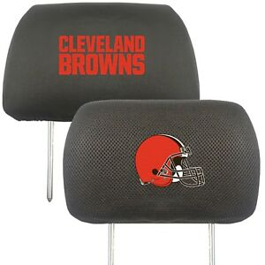 Fanmats NFL Cleveland Browns 2-Piece Embroidered Headrest Covers Del. 2-4 Days