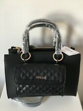 GUESS BLACK BAG WITH REMOVABLE POUCH BNWT