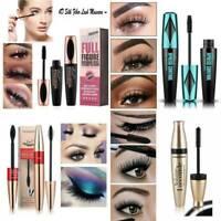 Black 4D Mascara Silk Fiber Eyelash Extension Waterproof Makeup Eye Lashes Kits
