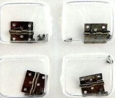 Maison De Poupées 4 Argent Noir Charnières Miniature Luminaires & Assemblage