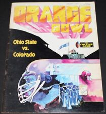 1977 ORANGE BOWL COLLEGE FOOTBALL PROGRAM OHIO STATE BUCKEYES COLORADO BUFFALOES