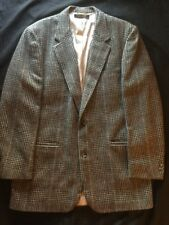 Brooks Brothers Mens Glen Plaid 100% Camel Hair Blazer Sz 44 34 Long Excellent!