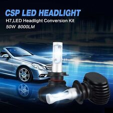 2x-Philips H7 180W 18000LM LED Headlight Kit Single Beam Bulb  White Power 6500K
