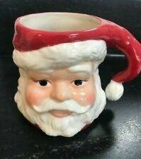 Longaberger 3D Santa Face Mug Pottery
