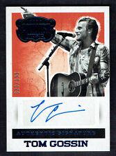 Tom Gossin signed autograph auto 2014 Panini Country Music Card S-TGO 30/199