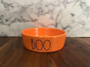 Rae Dunn Orange Cat Bowl Boo Halloween Pet 1  New