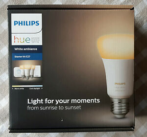 Philips Hue White Ambiance E27 LED Lampen + Philips Hue Wireless Dimming Schalte