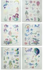 Set of 3 Mermaids Temporary Glitter  Holographic Tattoos NEW  necklace