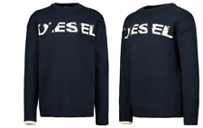 NEW - DIESEL YOUTH'S K-LOGOX JUMPER BLACK WITH WHITE BROKEN TEXT -14 YEARS