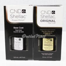 CND SHELLAC UV BASE TOP BIG LARGE SIZE >> BASE COAT 0.42 oz & TOP COAT 0.5 oz