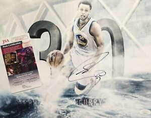 Stephen Curry Golden State Warriors Signed Autographed NBA Star 11x14 Photo JSA