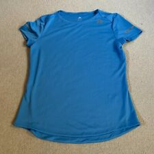 Adidas Run ladies running sports fitness t shirt in blue - small
