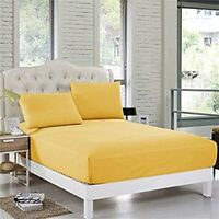 US Bedding Collection 1000 Thread Count Egyptian Cotton Gold Solid All Sizes