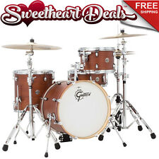 Gretsch Catalina Club Jazz 4-Piece Shell Pack Drum Kit - Satin Walnut Glaze