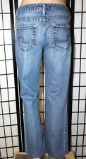"LEVI STRAUSS SIGNATURE Women's Size 8 Short Low Rise Boot Cut Jeans 28"" Inseam"