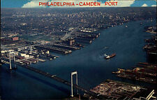 Philadelphia USA Amerika Aerial Viel Harbour ~1960/70 Camden port Brücke Bridge
