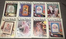 8 Cross Stitch & Country Crafts Magazines 1988 - 1990 ~ 202 Pattern'S & Project