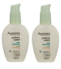 2 Pack - Aveeno Positively Radiant Daily Moisturizer, SPF 15  4oz Each