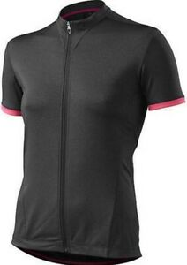 Specialized Womens RBX Comp Cycling Jersey Carbon Heather/Neon Pink XSmall