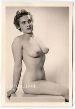#829 ROESSLER AKTFOTO / NUDE WOMAN STUDY * Vintage 1950s Studio Photo - no PC !