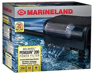 Penguin 200 Power Filter 200GPH 30-50 Gallon Black NEW