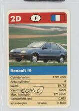 1990 ACE Super-Trumf Cars #2D Renault 19 Non-Sports Card 0w6