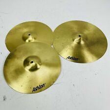 More details for entry level brass drum kit cymbal set | 14